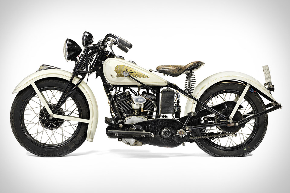 Steve McQueens 1934 Indian Sport Scout Motorcycle