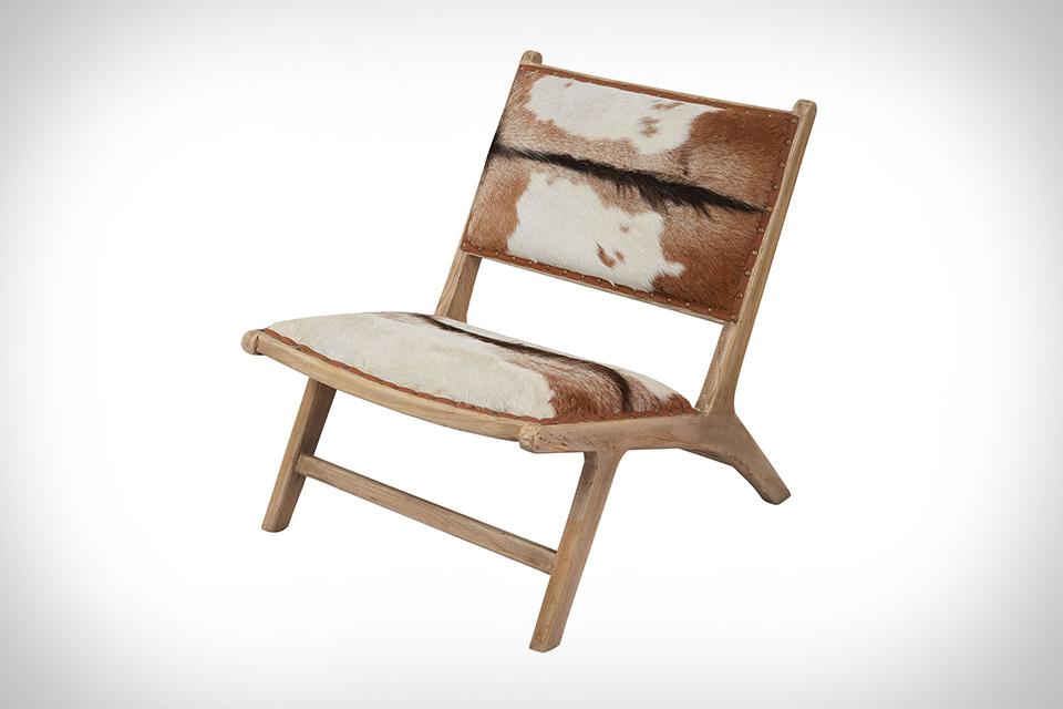 Lazy Susan Goatskin Lounge Chair