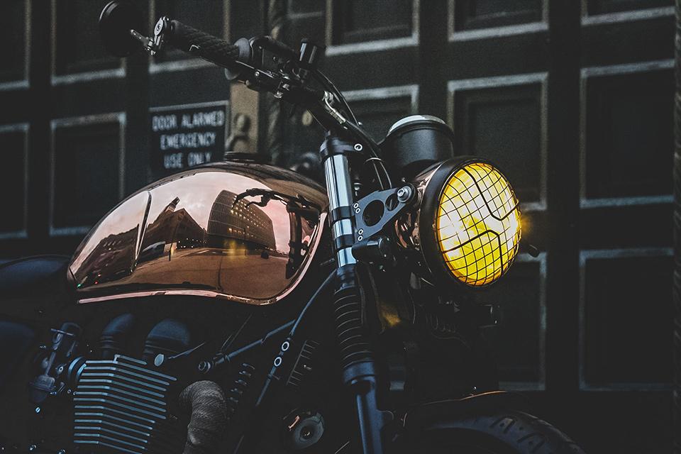 Triumph Miss Moneypenny Bonneville Motorcycle