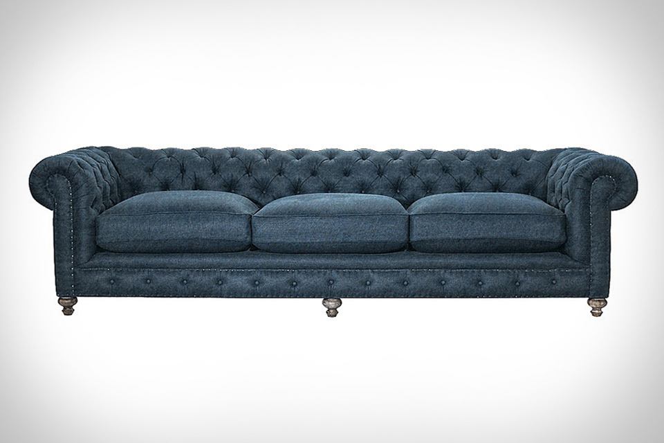 Chesterfield Denim Sofa