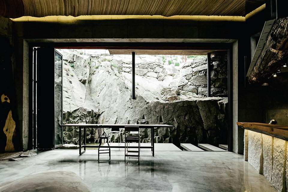 Rock Wall House