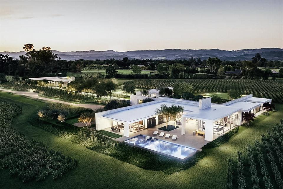 Modern Napa Valley Vineyard Estate