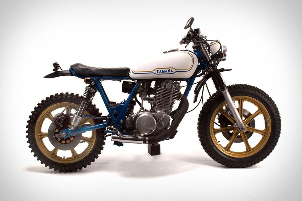 Vintage Steele 1978 Yamaha SR500 Motorcycle