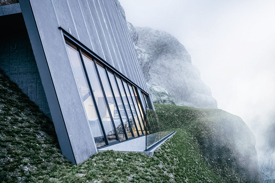 A-Frame Cliff House