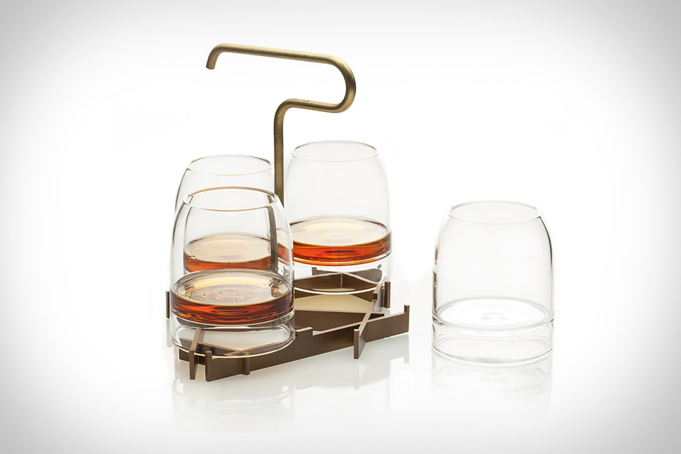 Rare Presenter Whiskey Glass Set