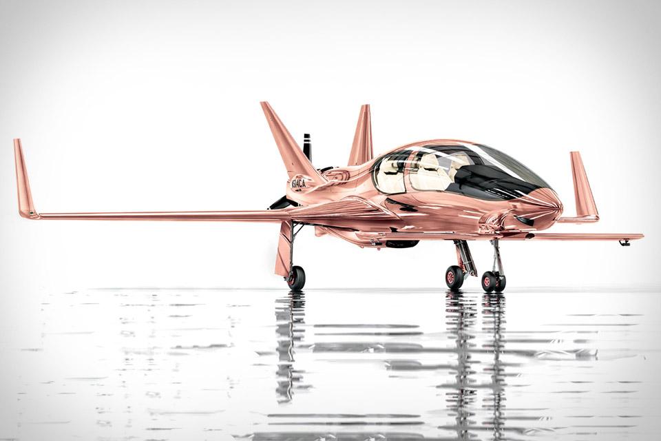 Cobalt Valkyrie-X Rose Gold Private Plane