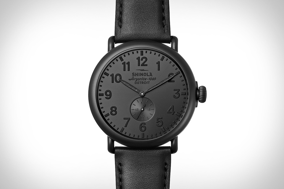 3f672250c Shinola Runwell All Black Watch | Uncrate