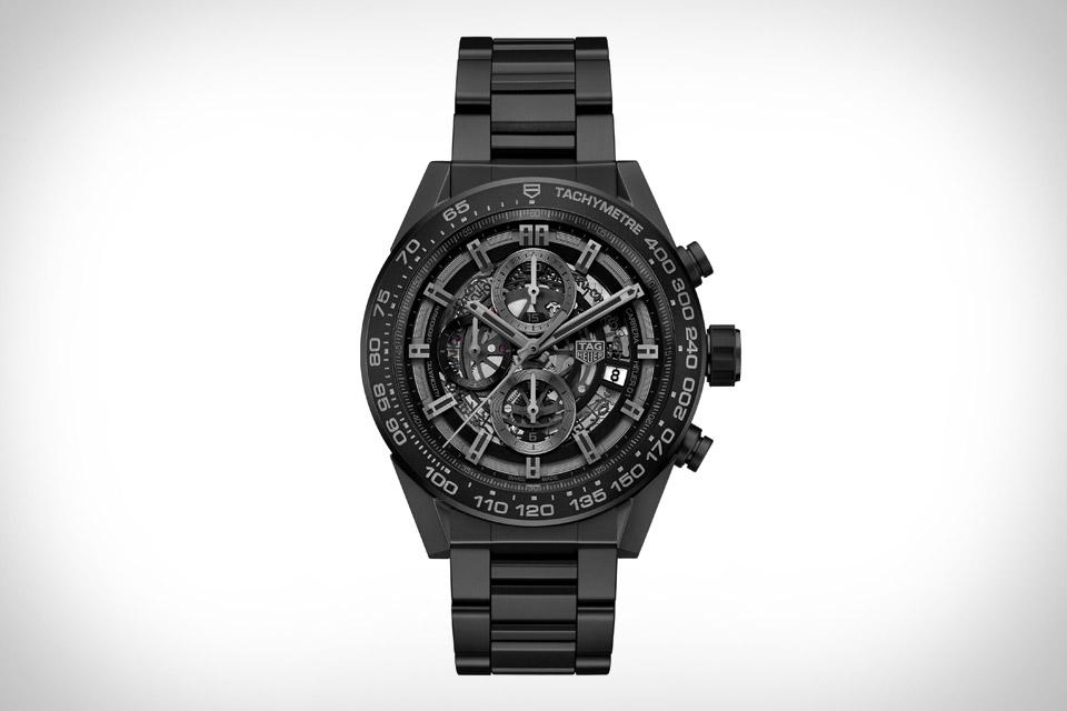 TAG Heuer Carrera Heuer-01 Black Ceramic Watch