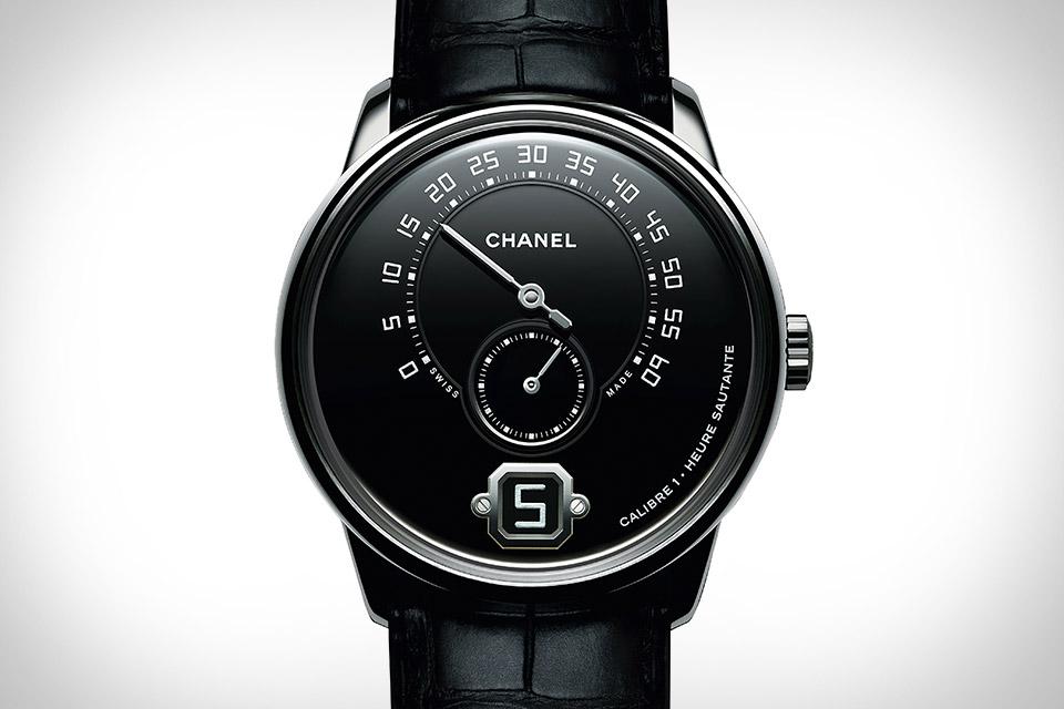 Monsieur de Chanel Platinum Black Watch