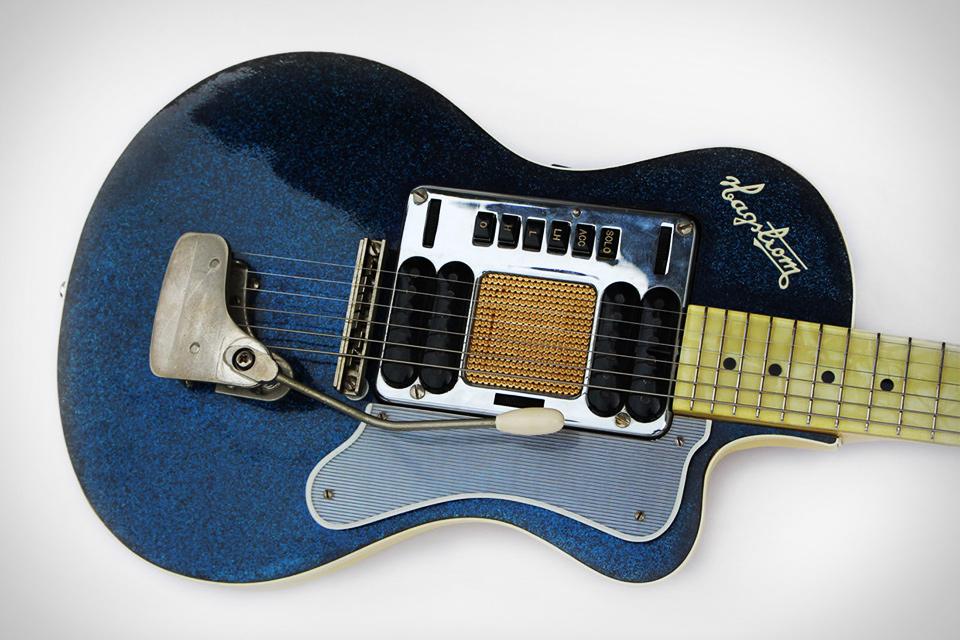 Kurt Cobain's Hagstrom Blue Sparkle Deluxe Guitar