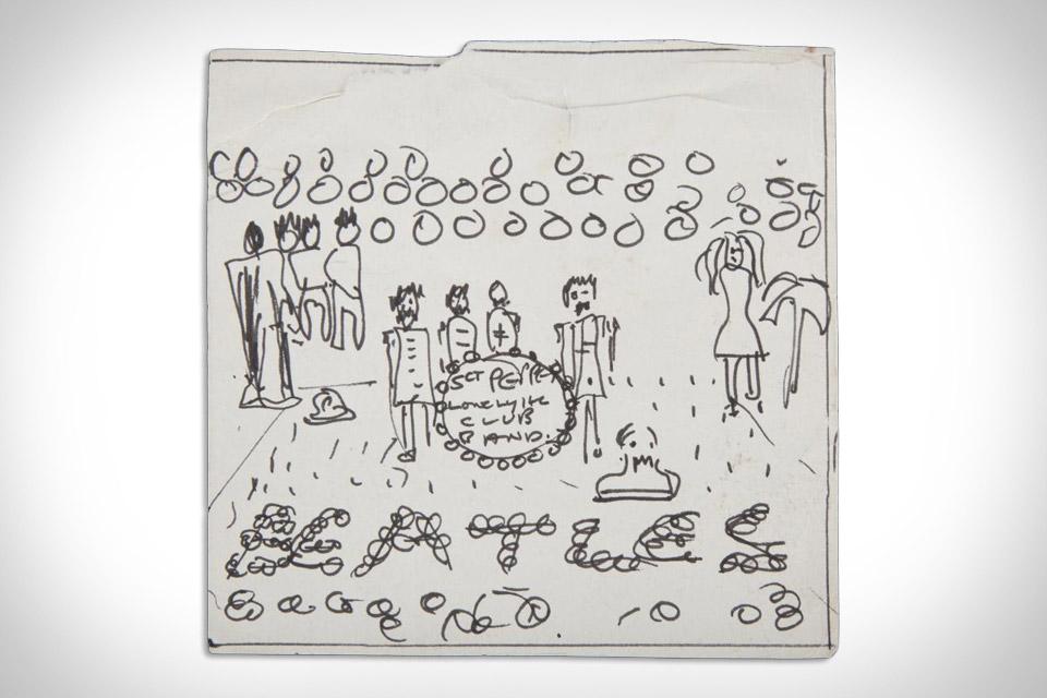 John Lennon Sgt. Pepper's Cover Sketch