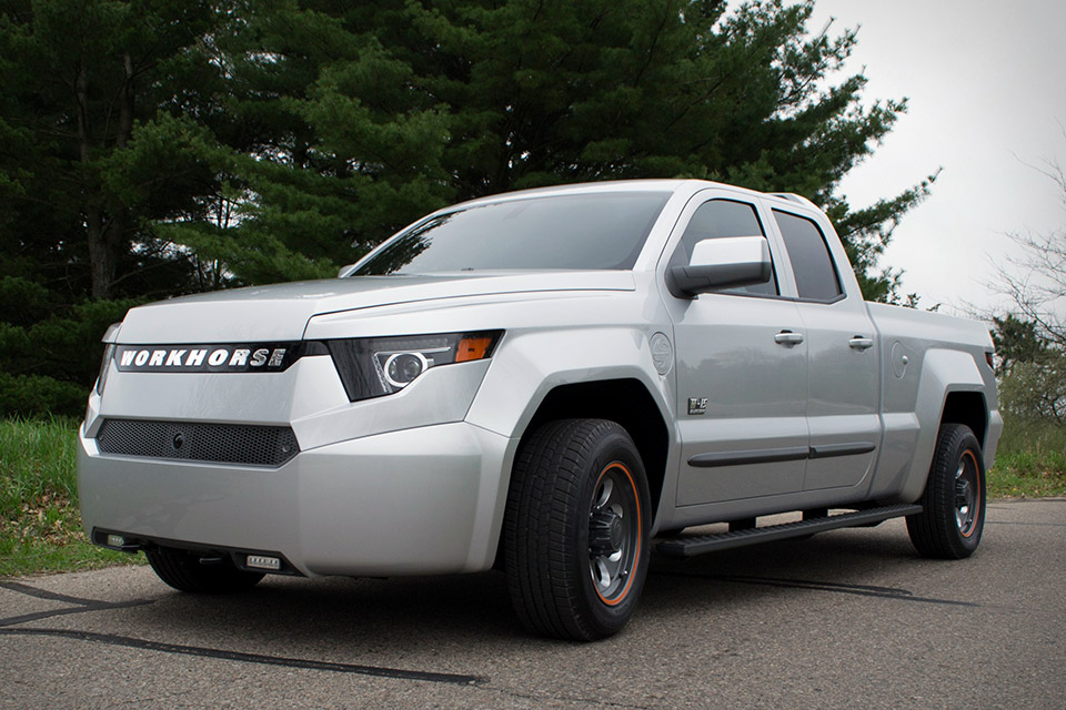 workhorse electric pickup truck uncrate. Black Bedroom Furniture Sets. Home Design Ideas