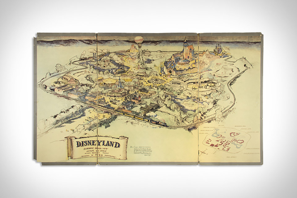 1953 Disneyland Presentation Map