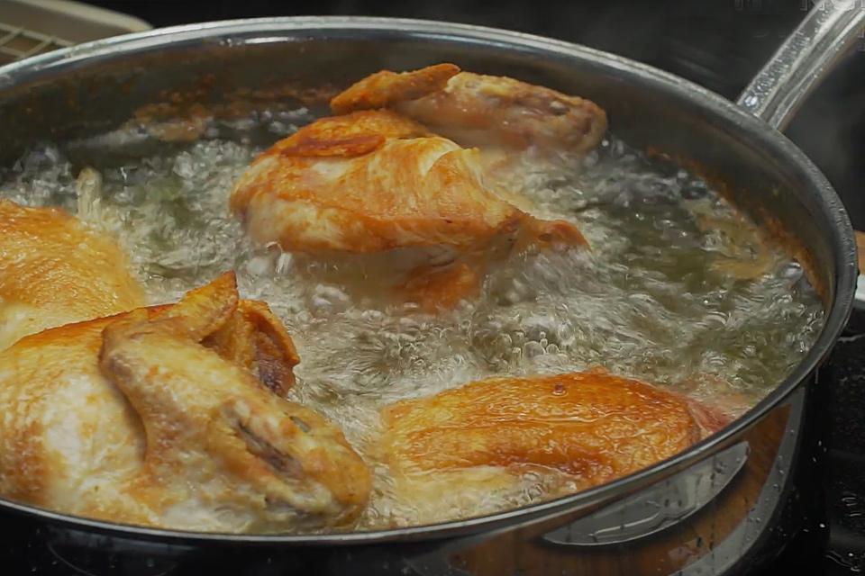 Flourless Spicy Pan-Fried Chicken