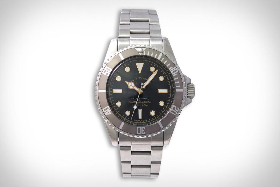 Vague Grey Fade Submariner Watch
