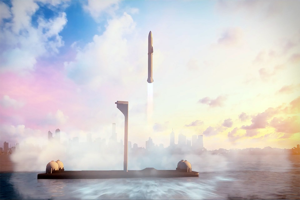 Space X BFR Earth to Earth Service