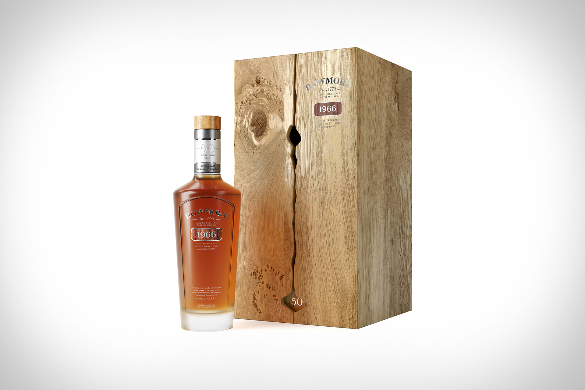 Whisky Escocés Bowmore 1966 50 Years Old
