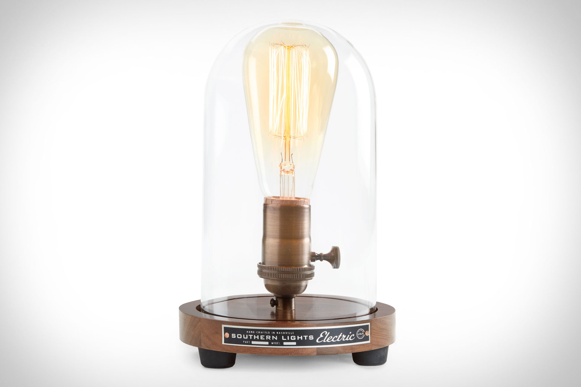 Southern lights electric bell jar table lamp uncrate home geotapseo Choice Image