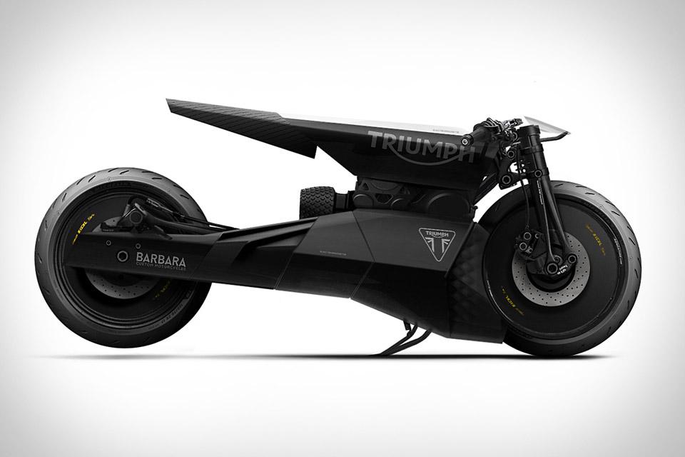 Barbara Triumph Black Matter Motorcycle
