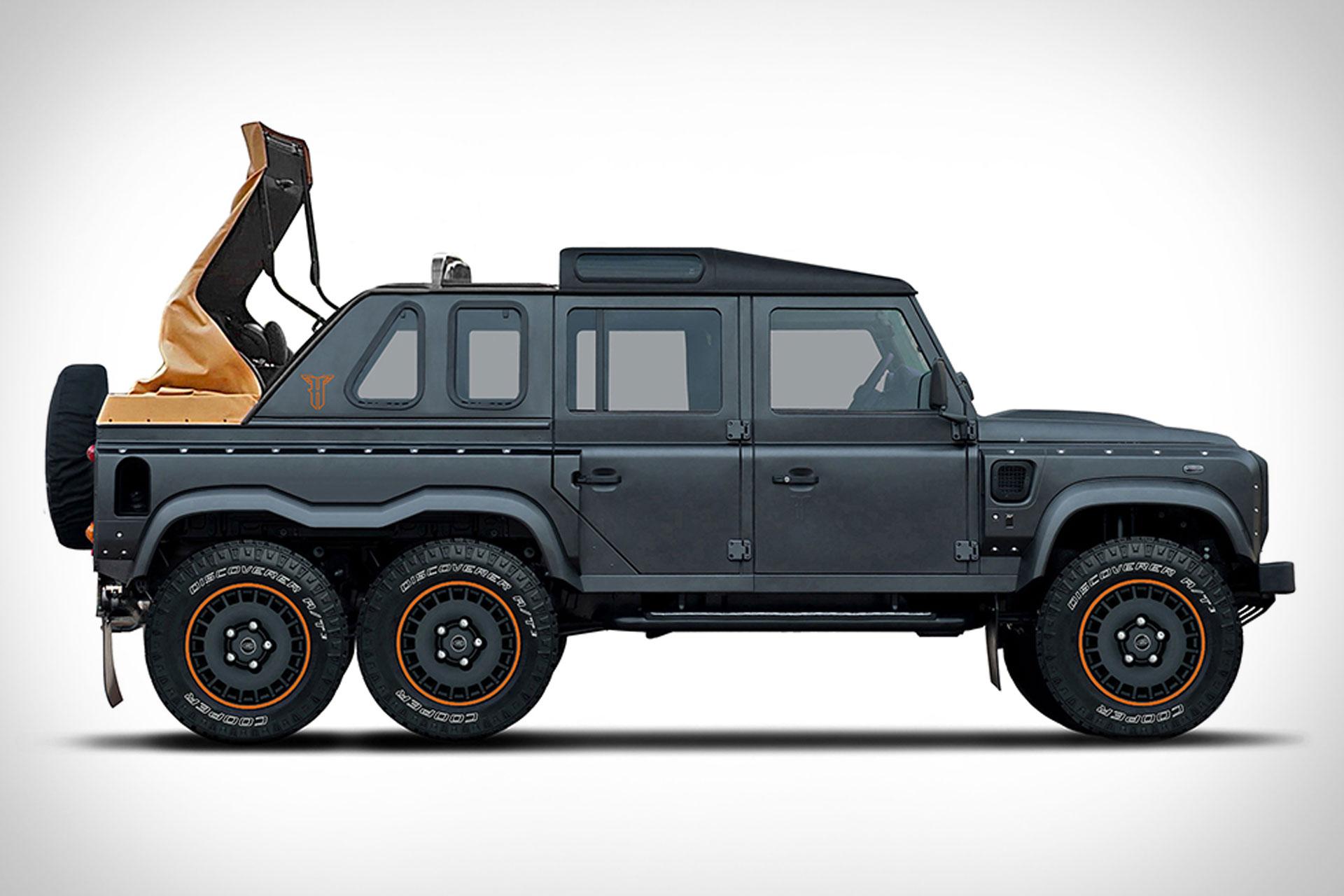 La Camionnette à Toit Souple Flying Huntsman 6x6 de Kahn Design