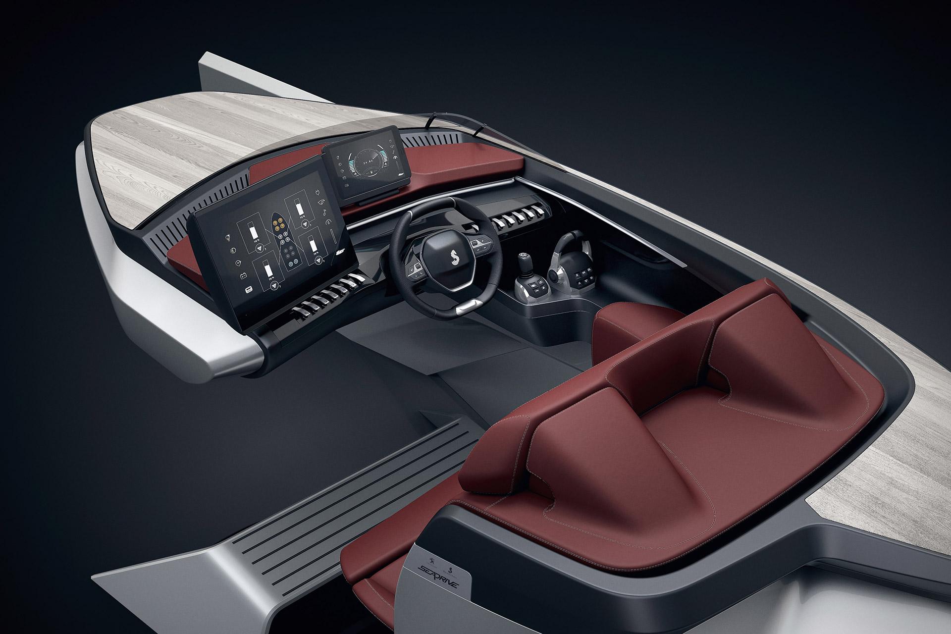 Peugeot sea drive concept uncrate for Interieur 407