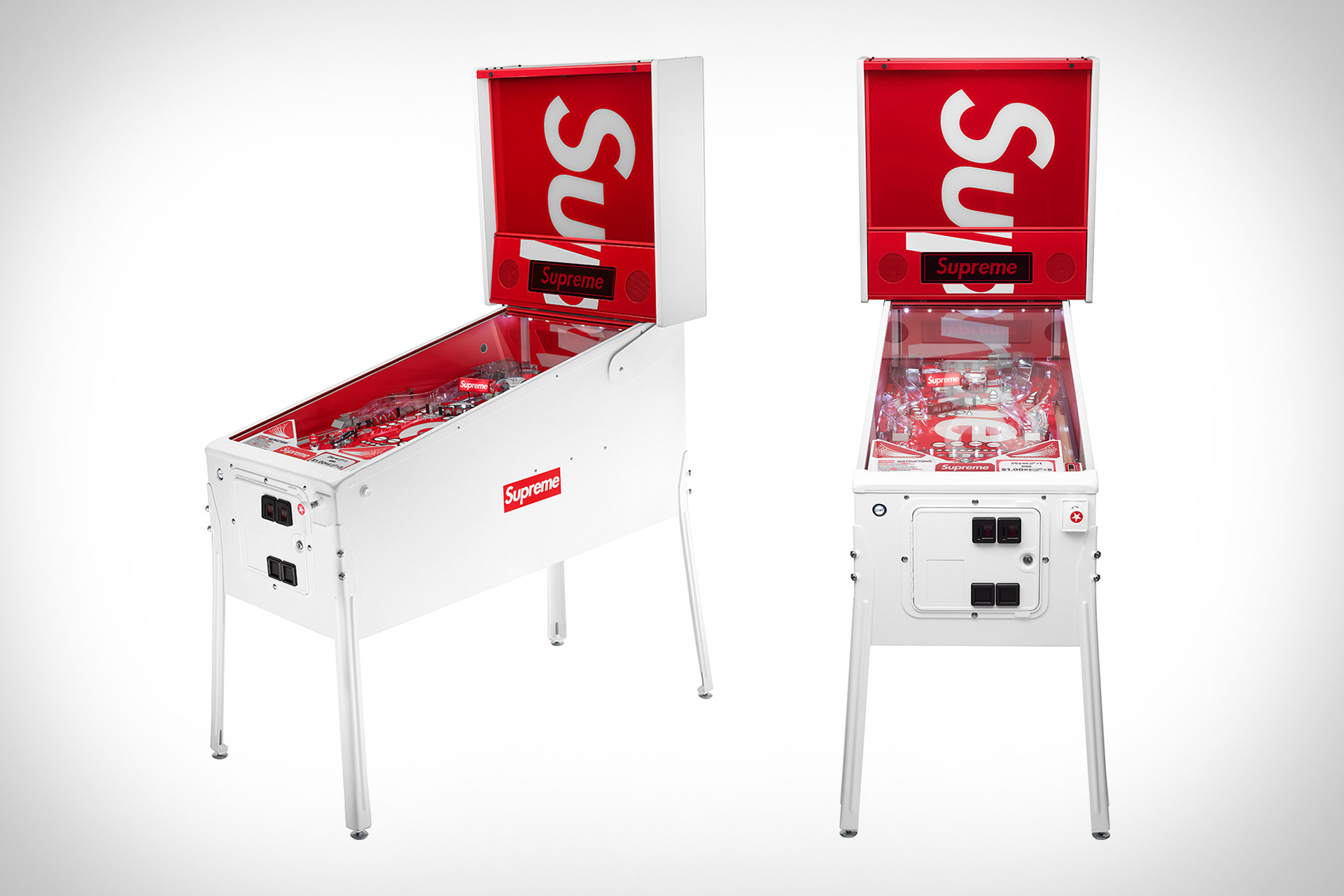 Stern x Supreme Pinball Machine | Uncrate