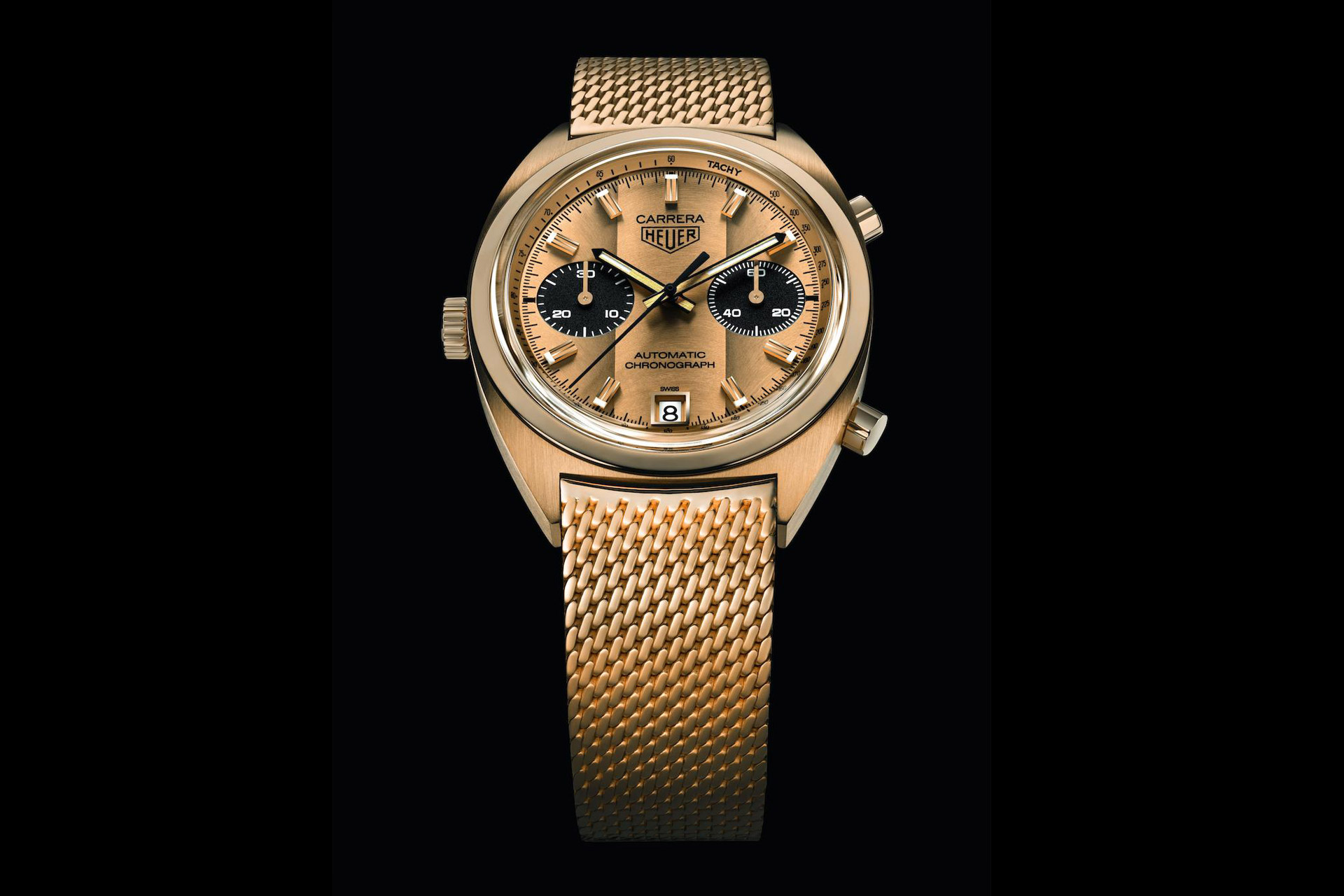 Solid Gold Tag Heuer Carrera Watch