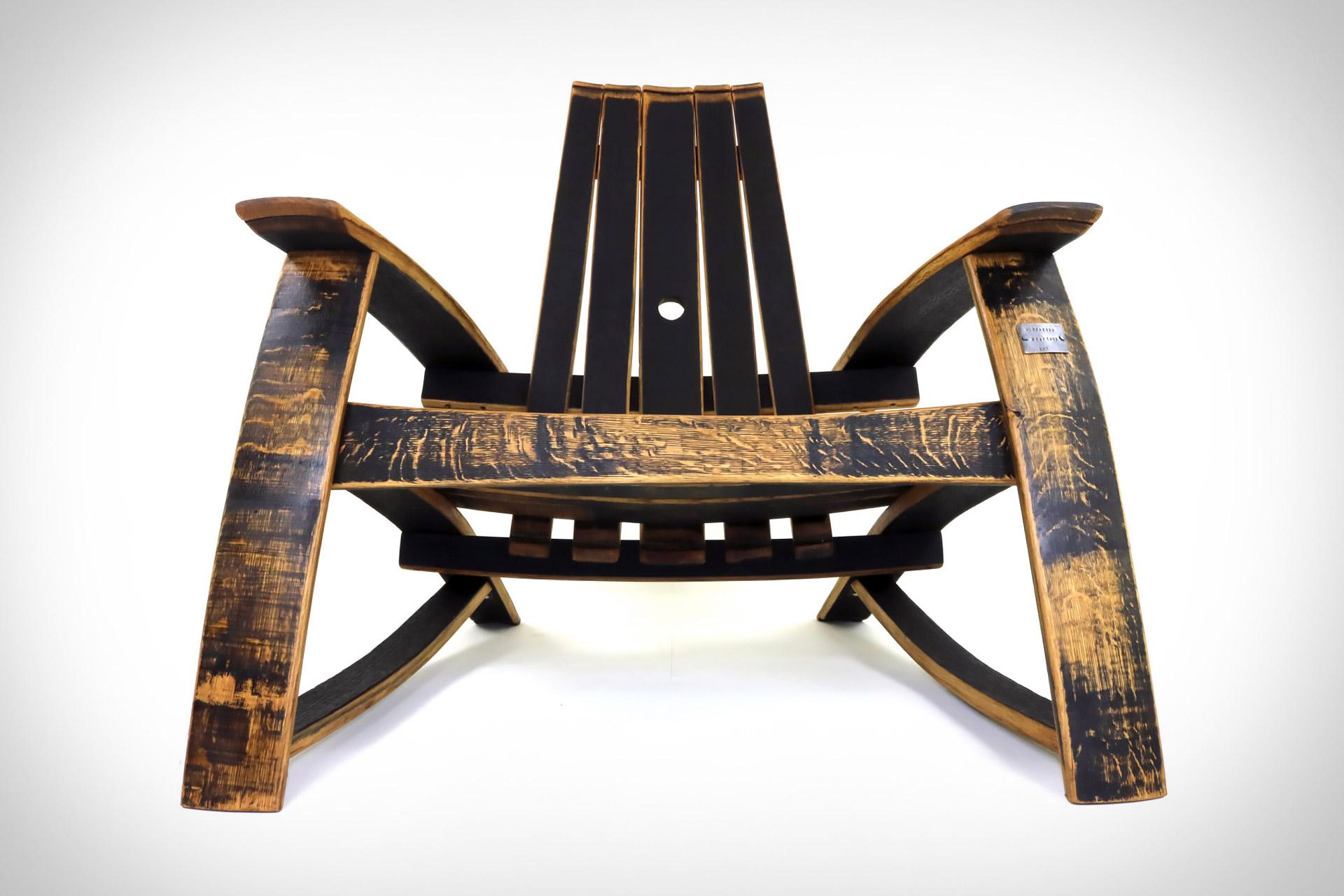 Bourbon Barrel Adirondack Chair Uncrate