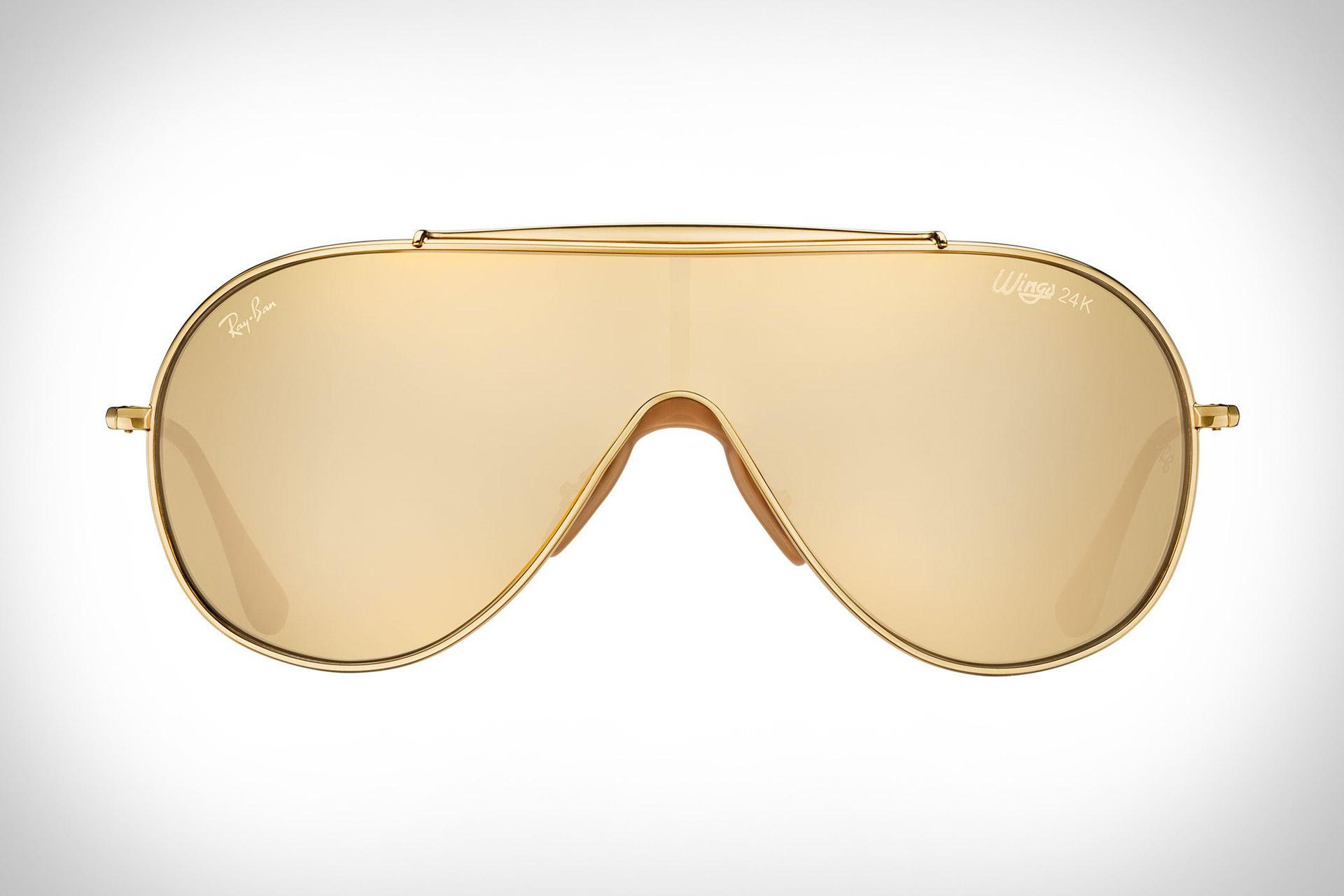 684fd411ed Gafas de Sol de 24K Ray-Ban Golden Wings | Uncrate