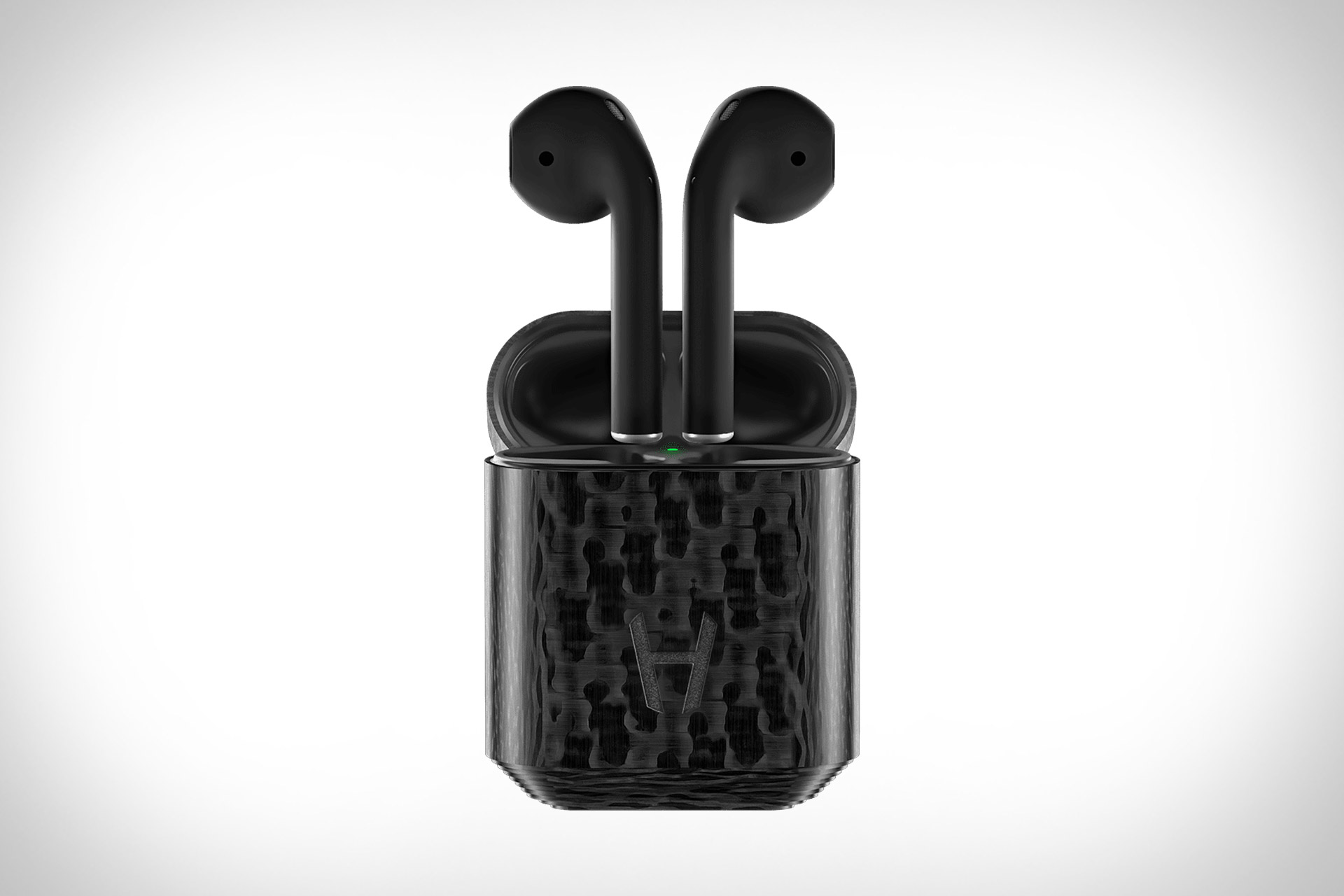 Hadoro Carbon Black AirPods   Uncrate
