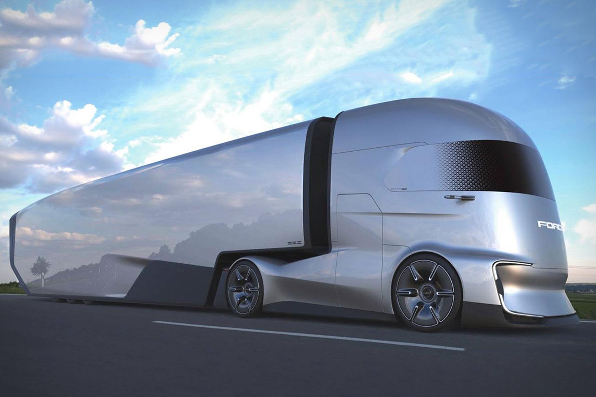 Heavy Duty Trucks >> Ford F-Vision Semi Truck Concept | Uncrate