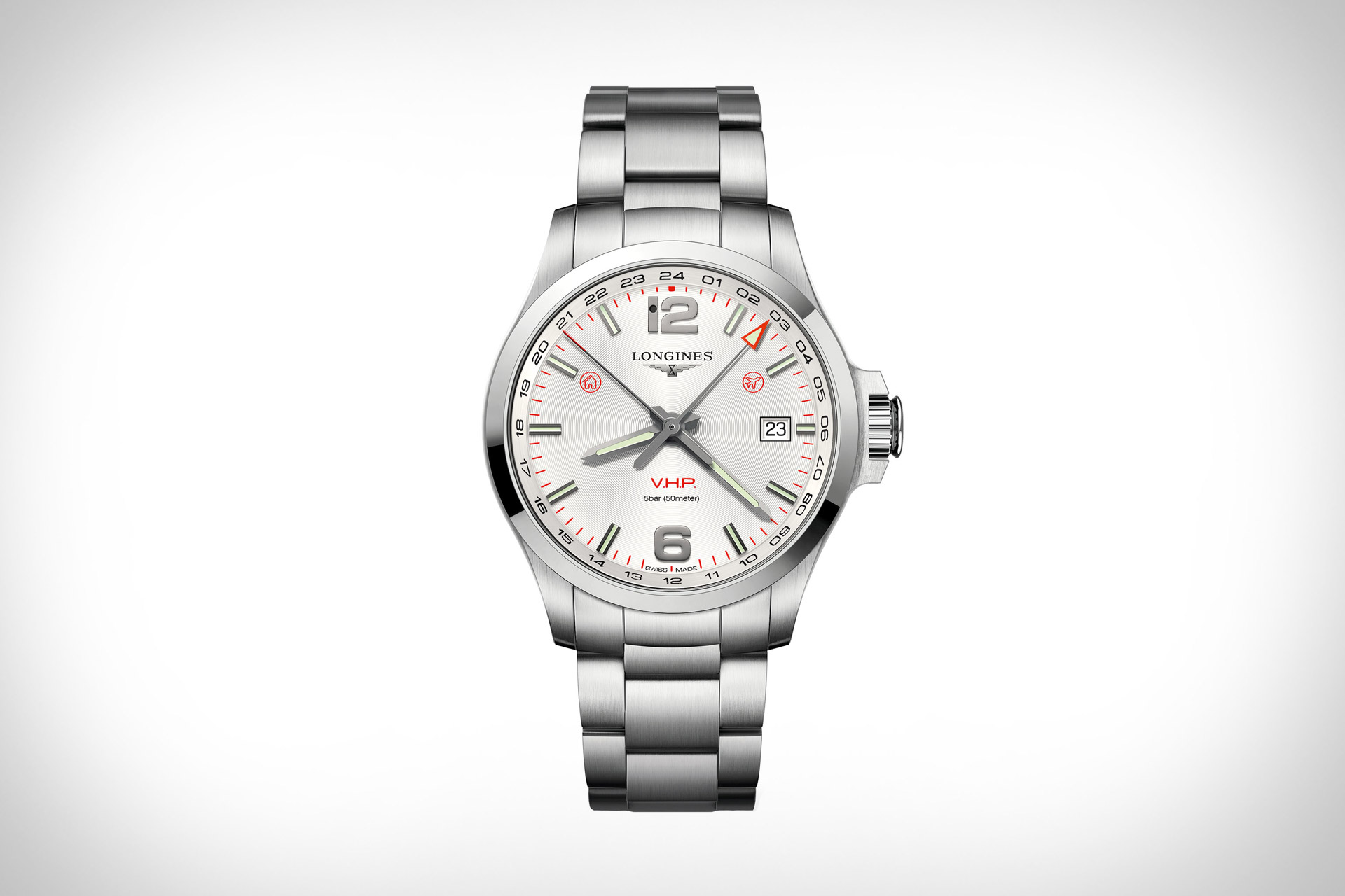 cb061a0e297 Longines Conquest VHP GMT Flash Setting Watch