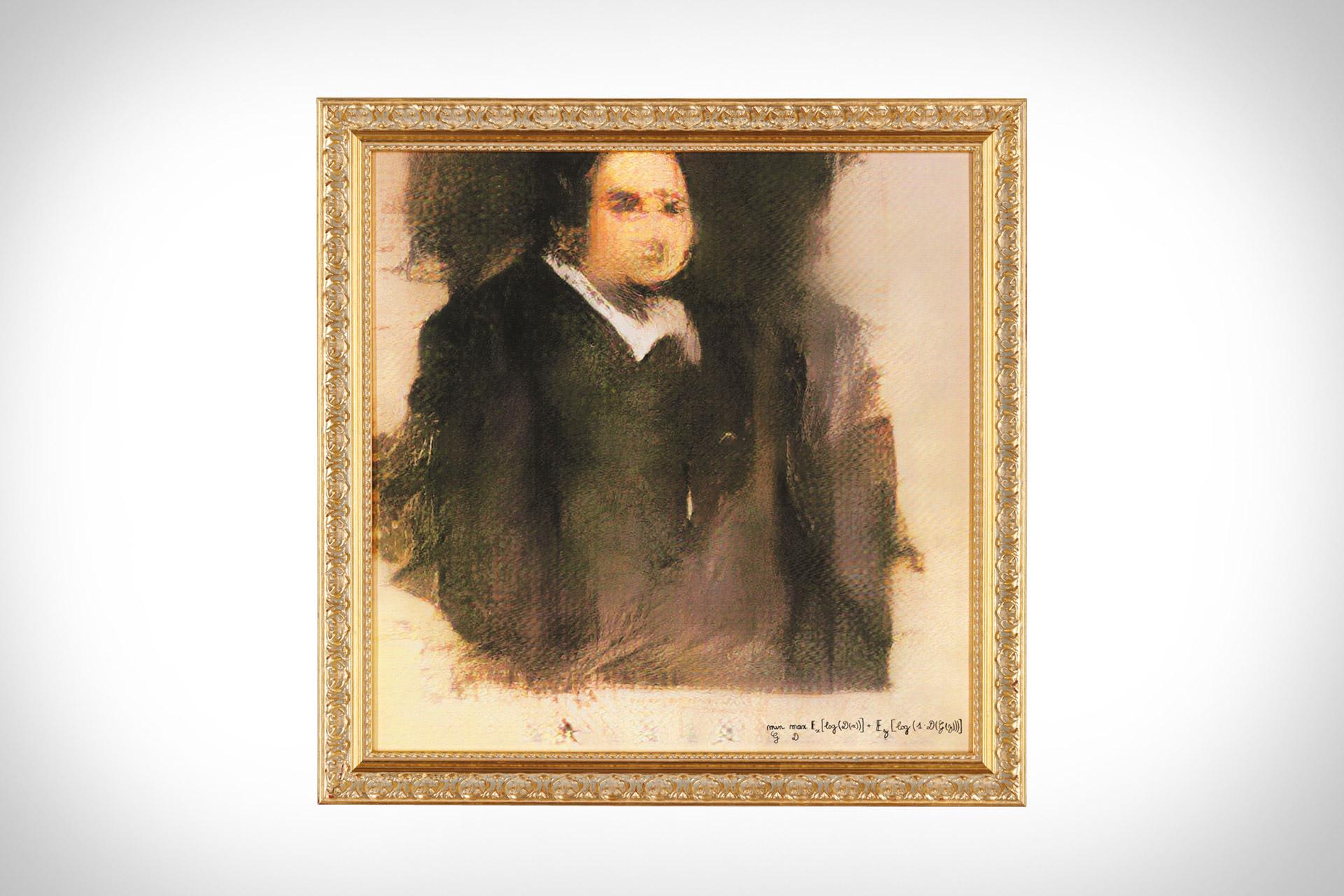 Ai Generated Portrait Of Edmond Belamy Uncrate