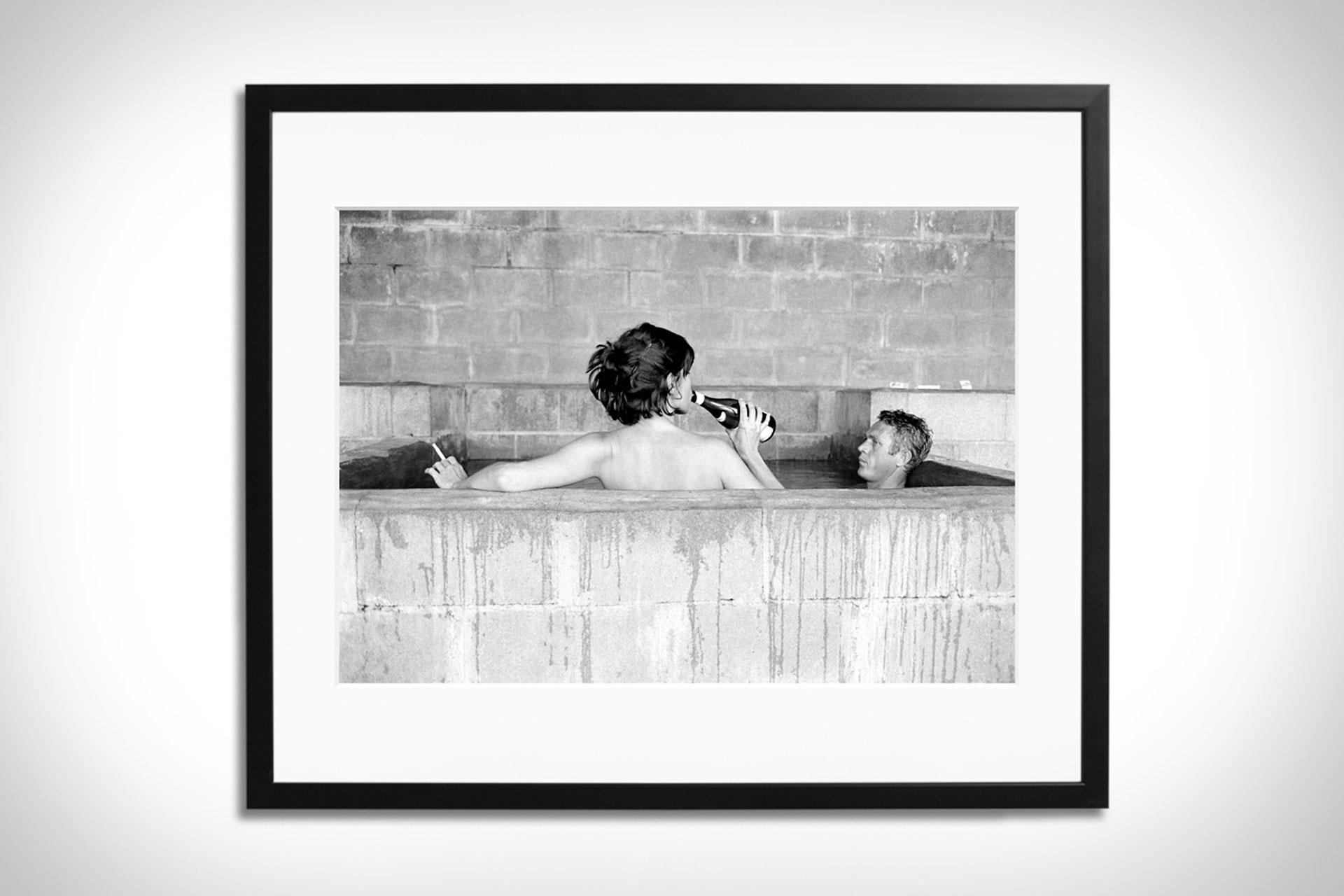 Steve McQueen & Wife Framed Print