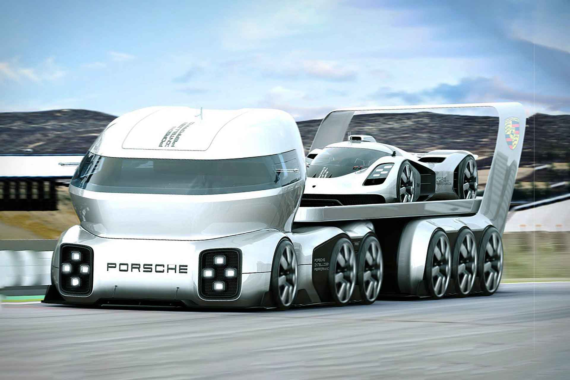 Pictures Of Future Trucks: Porsche GT Vision Truck Concept