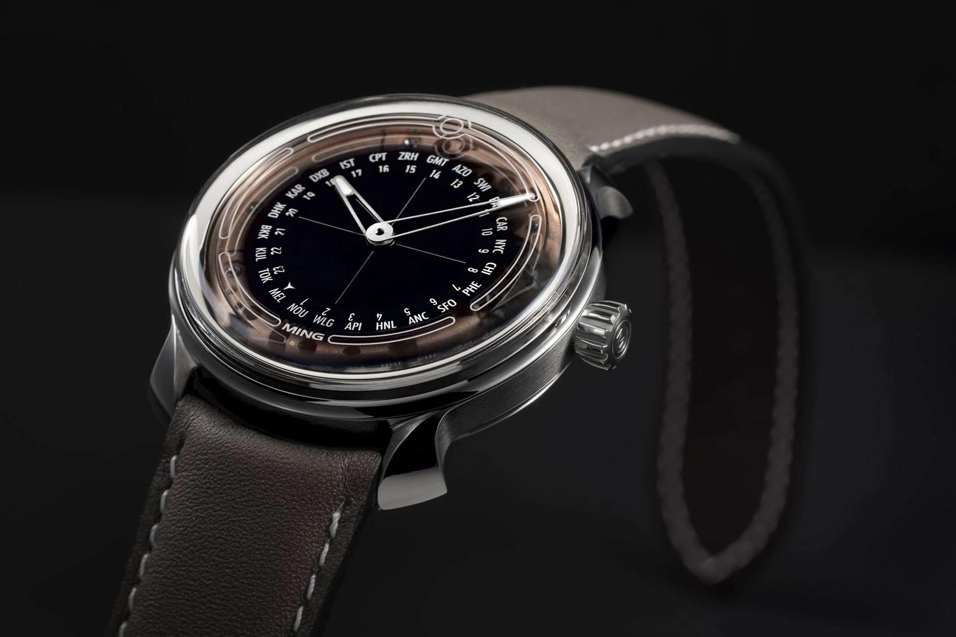 Ming 19.02 Worldtimer Watch