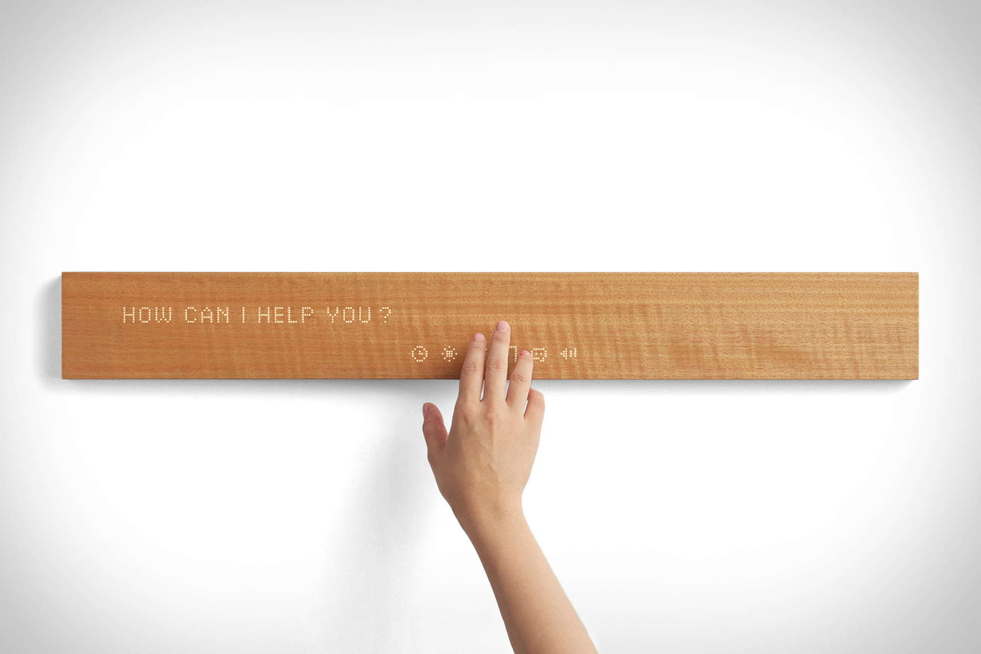 Mui Wooden Digital Display