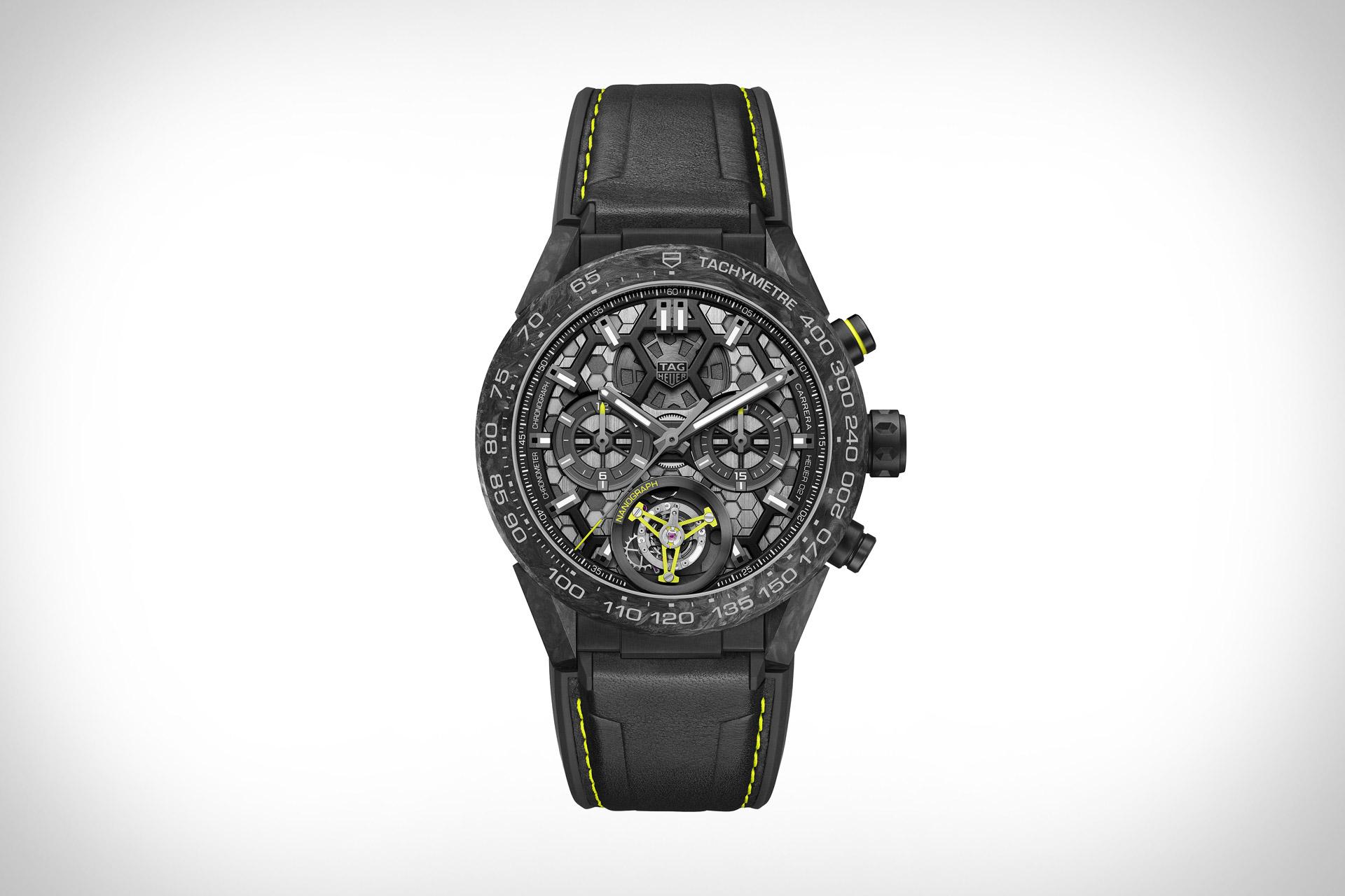 Tag Heuer Carrera Calibre Heuer 02T Tourbillon Nanograph Watch  581789b9f55