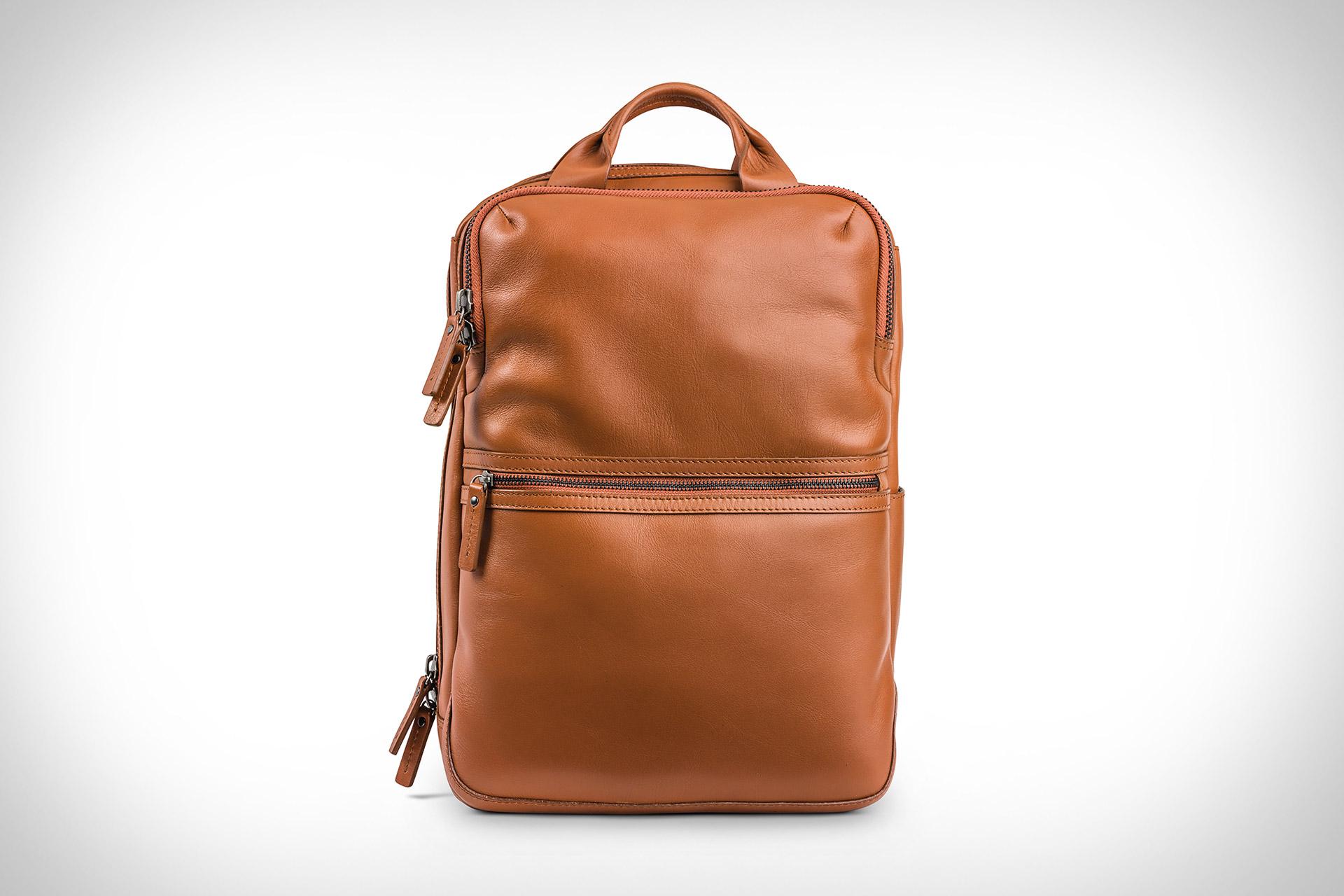 Moral Code Back Office Leather Backpack