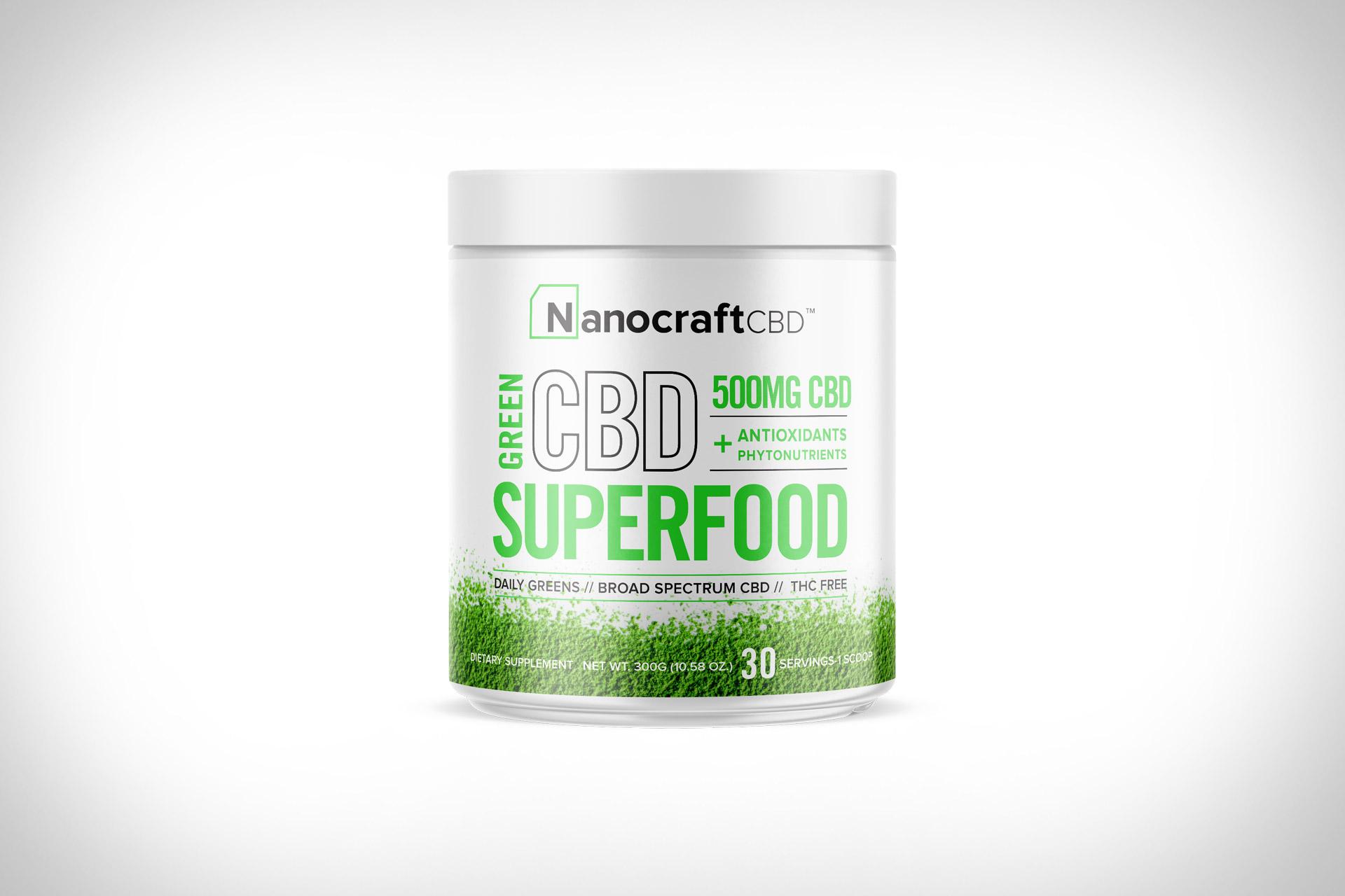 Nanocraft CBD Superfood Green Powder