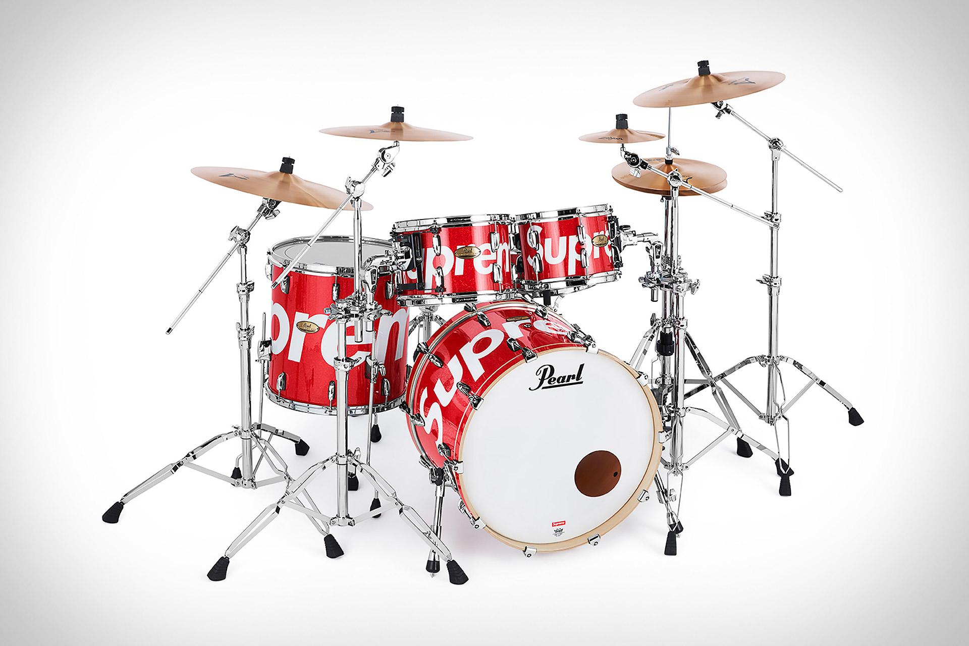Pearl x Supreme Studio Select Drum Set | Uncrate