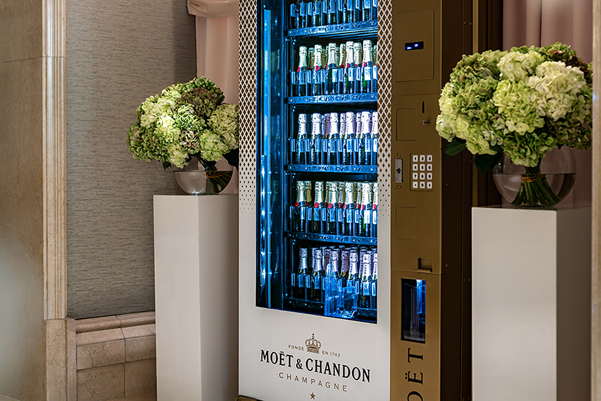 Ritz-Carlton Champagne Vending Machine
