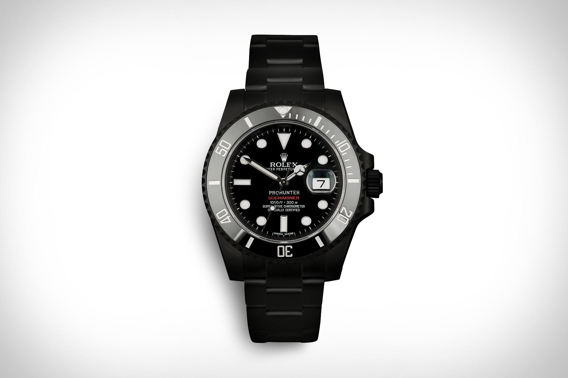 Pro Hunter Rolex Submariner Date Stealth Watch