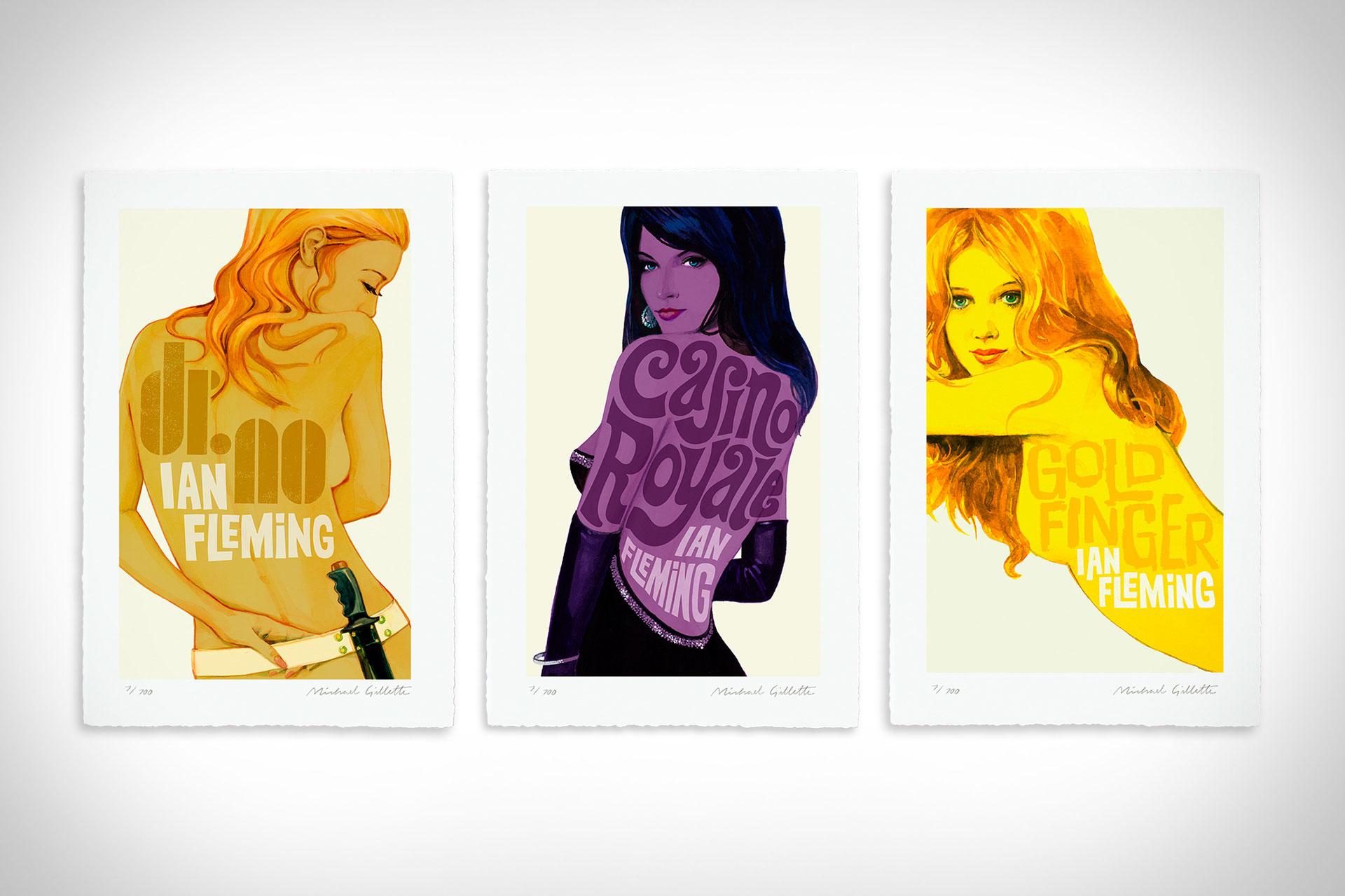 James Bond Book Cover Prints | Uncrate