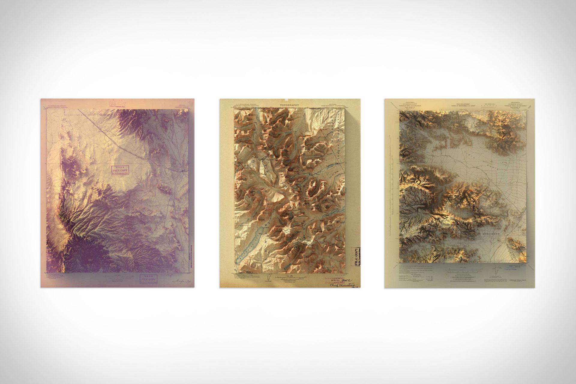 Topographical Rendering Map Prints | Uncrate