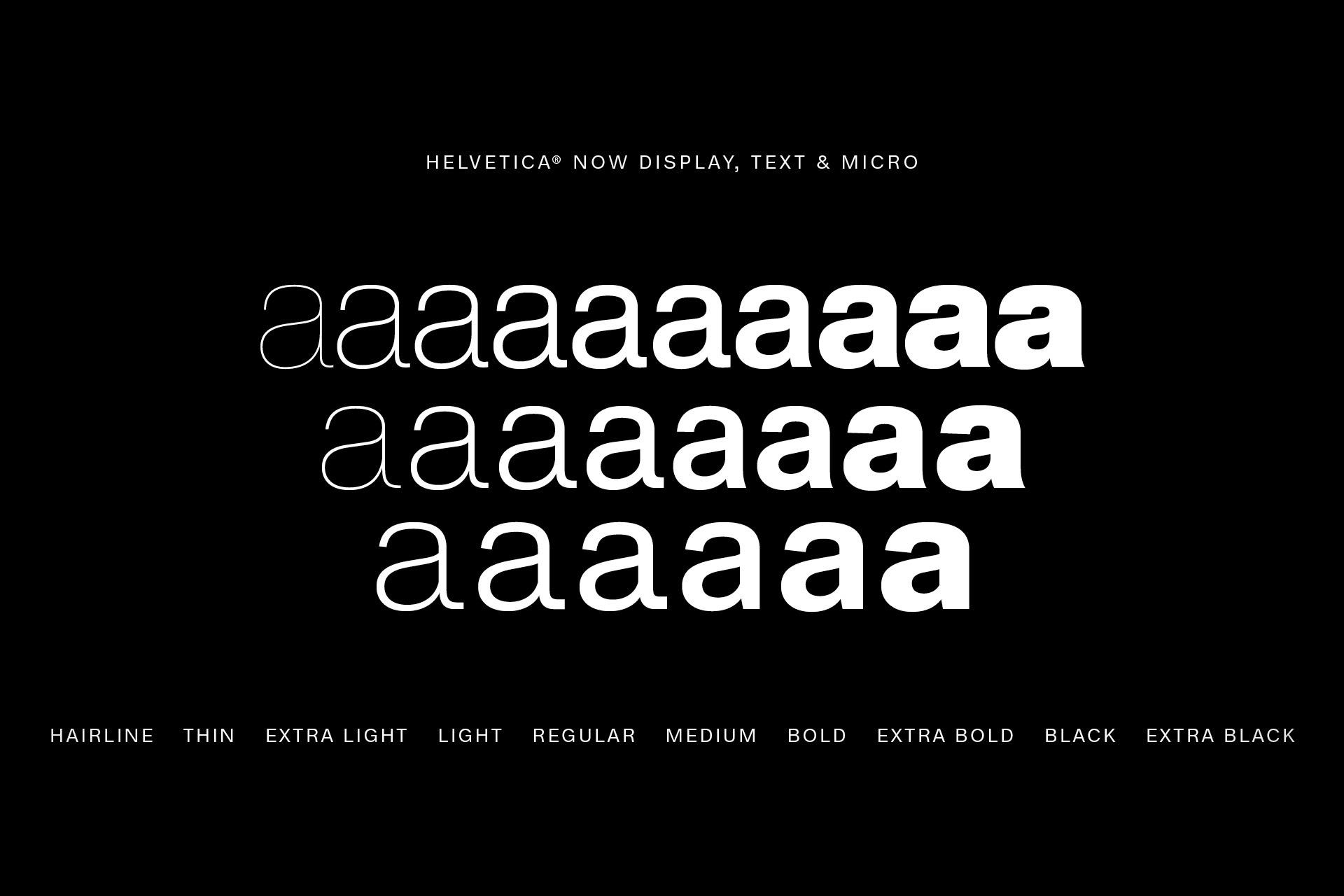 Helvetica Now Typeface