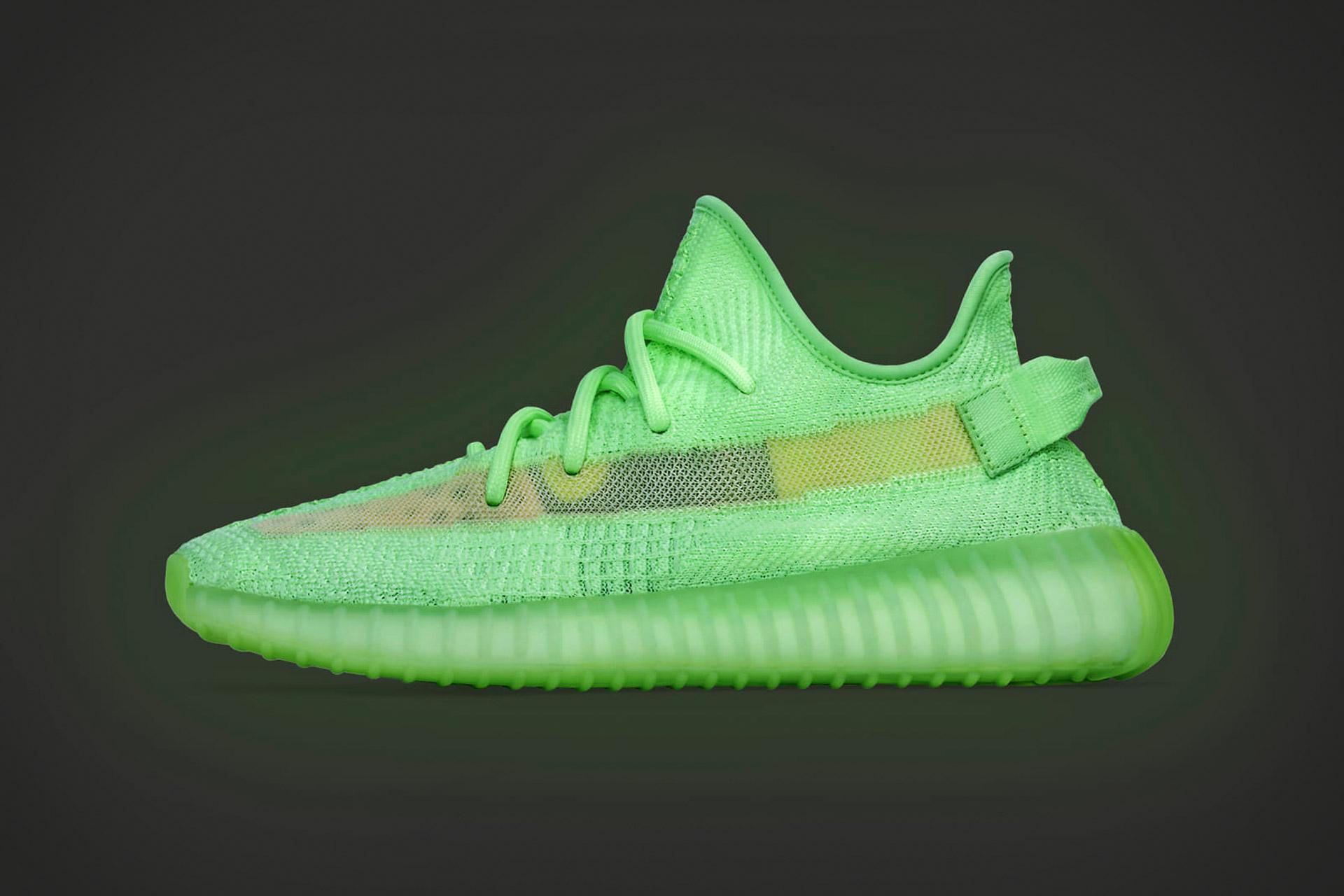 Adidas x Kanye West Yeezy Boost 350 V2 Glow Sneakers