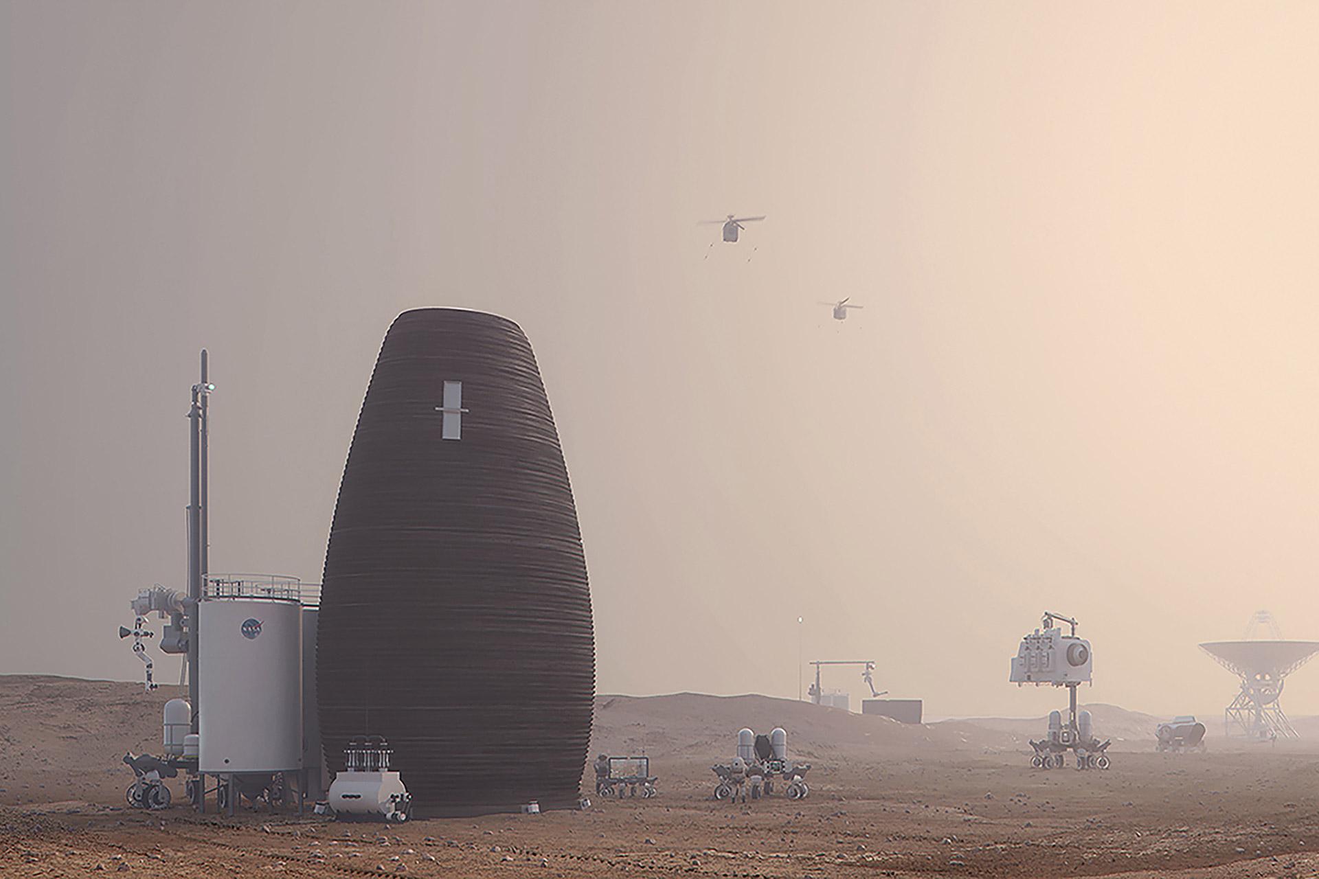 AI SpaceFactory MARSHA Mars Habitat