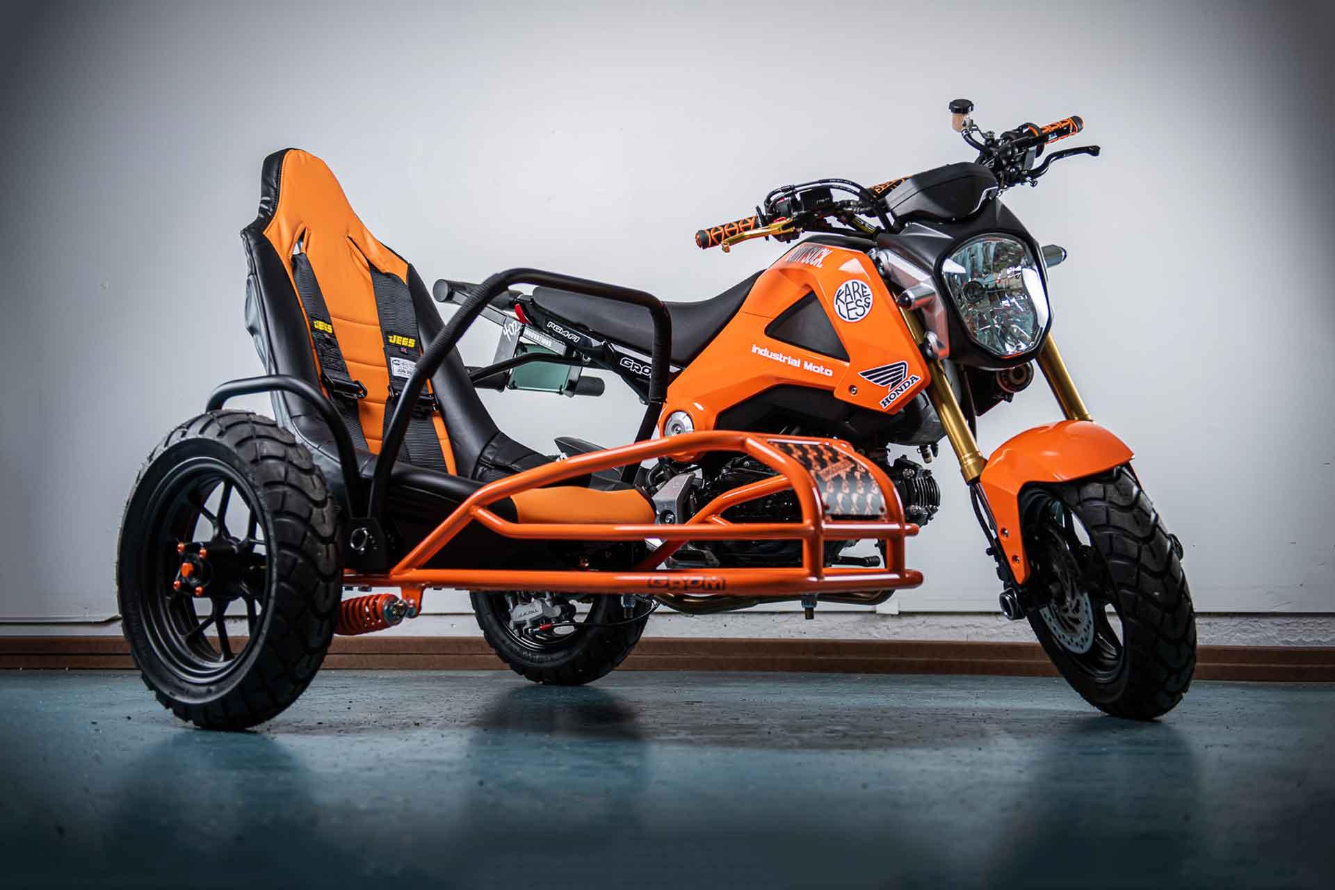 Industrial Moto Project Angel Honda Grom Motorcycle
