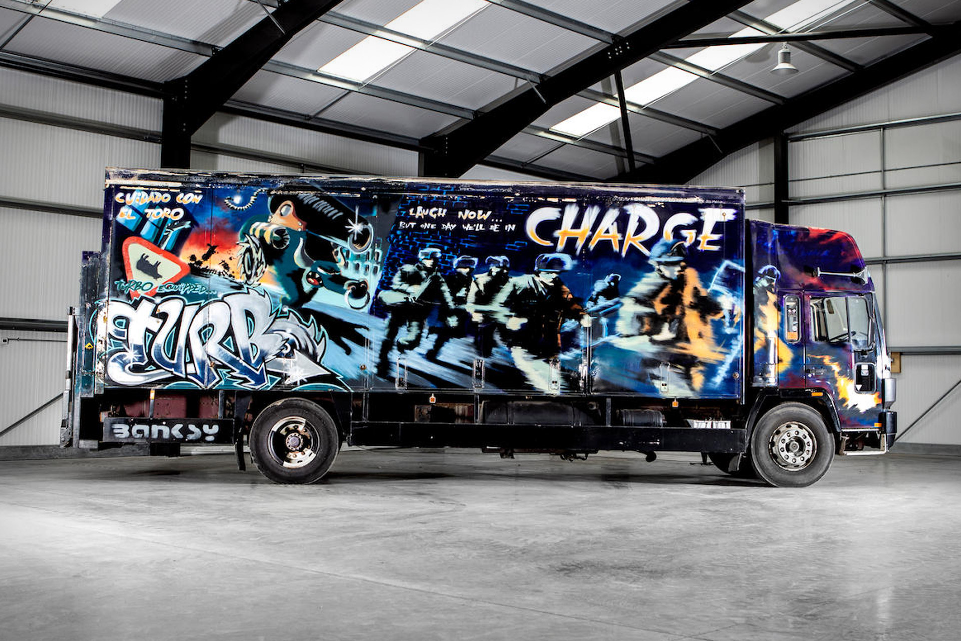 Banksy's Turbo Zone Truck | Uncrate